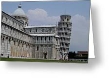 Leaning Tower Of Pisa Greeting Card by Joseph R Luciano