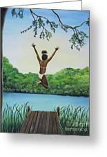 Leap Of Faith Greeting Card by Kris Crollard