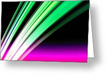 Leaving Saturn In Pink And Mint Greeting Card by Pet Serrano