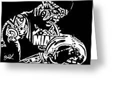 Lebron James Greeting Card by Kamoni Khem