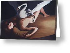 Leda And The Swan Greeting Card by James LeGros