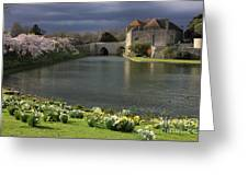 Leeds Castle In Kent United Kingdom Greeting Card by Kiril Stanchev
