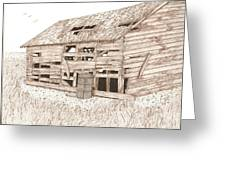 Lee's Barn Greeting Card by Pat Price
