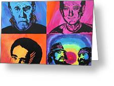 Legends of Laughter Greeting Card by Bill Manson