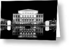 Leipzig Panorama Greeting Card by Marc Huebner