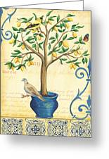Lemon Tree Of Life Greeting Card by Debbie DeWitt