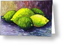 Lemons And Limes Greeting Card by Kamil Swiatek