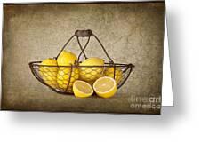 Lemons Greeting Card by Heather Swan
