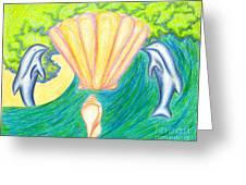 Lemuria Atlantis Greeting Card by Kim Sy Ok