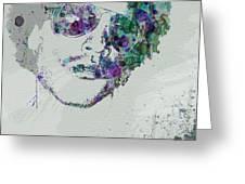 Lenny Kravitz Greeting Card by Naxart Studio