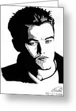 Leonardo Dicaprio Portrait Greeting Card by Alban Dizdari