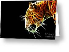 Leopard Greeting Card by The DigArtisT