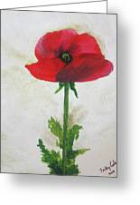 Lest We Forget Greeting Card by Trilby Cole