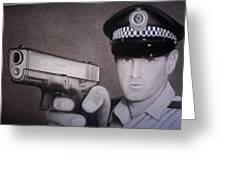 Lethal Force Greeting Card by Brendan SMITH