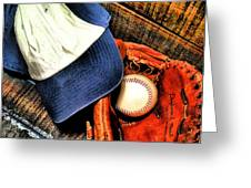 Let's Play Ball Greeting Card by Jimmy Ostgard