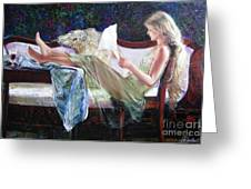Letter From Him Greeting Card by Sergey Ignatenko