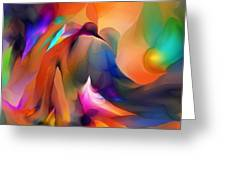 Letting Go Greeting Card by David Lane