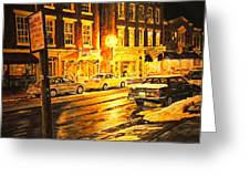 Lexington Street Light Greeting Card by Thomas Akers