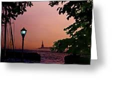 Liberty Fading Seascape Greeting Card by Steve Karol