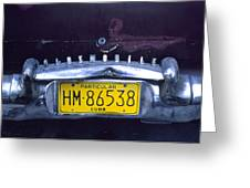 License Plate Indicating The Owner Greeting Card by Taylor S. Kennedy