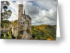 Lichtenstein Castle Greeting Card by Ryan Wyckoff