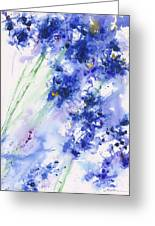 Lifes Drama Blue Greeting Card by Jerome Lawrence