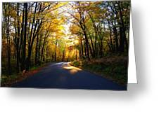 Light At The End Of The Road Greeting Card by Joe Medina