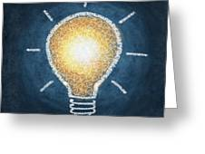 light bulb design Greeting Card by Setsiri Silapasuwanchai