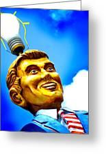 Light Bulb Man Greeting Card by John Gusky