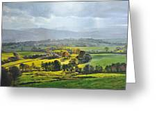 Light In The Valley At Rhug. Greeting Card by Harry Robertson