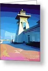 Lighthouse Greeting Card by Deborah MacQuarrie