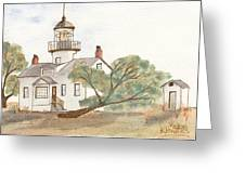 Lighthouse Sketch Greeting Card by Ken Powers