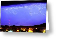 Lightning Over Loveland Colorado Foothills Panorama Greeting Card by James BO  Insogna