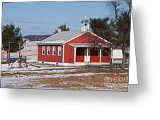 Lil Red School House Greeting Card by Robert Sander