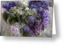Lilacs Of Love Greeting Card by Carol Cavalaris