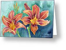 Lilies Greeting Card by Eleonora Perlic