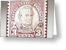 Lincoln 3 Cent Stamp Greeting Card by James Neill