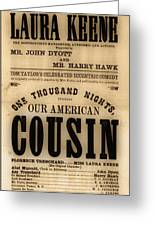 Lincoln Assassination Greeting Card by Andrew Fare