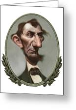 Lincoln Greeting Card by Court Jones
