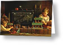 Lincoln Logs Greeting Card by Greg Olsen
