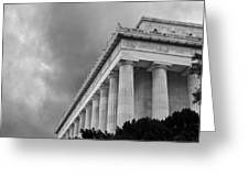 Lincoln Memorial - Black And White - Washington Dc Greeting Card by Brendan Reals