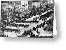Lincolns Funeral Procession, 1865 Greeting Card by Photo Researchers, Inc.