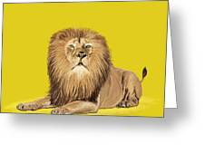 Lion painting Greeting Card by Setsiri Silapasuwanchai