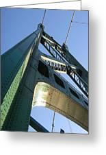Lions Gate Bridge  Greeting Card by Joseph G Holland