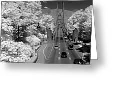 Lions Gate Bridge Summer Greeting Card by Bill Kellett