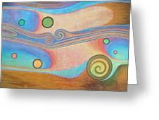 Liquid Crystals Greeting Card by Jennifer Baird