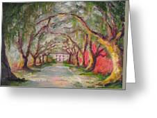 Litchfield Carriage House Greeting Card by Cecelia Campbell