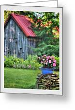 Litchfield Hills Summer Scene Greeting Card by Thomas Schoeller