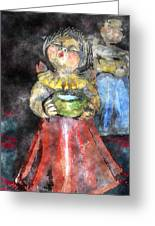 Little Christmas Angel-abstract Greeting Card by Patricia Motley