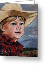 Little Cowboy Greeting Card by John Keaton